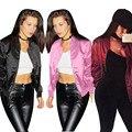 Jaquetas básicas das mulheres de Moda de NOVA mulheres jaqueta Bomber básico feminino casacos Primavera Outono casual cool biker HO980522 chaquetas mujer