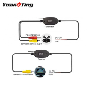 YuanTing RCA Video 2.4GHz Wireless Transmitter and Receiver for Car RV Bus Rear View Backup Camera Monitor System 12V / 24V