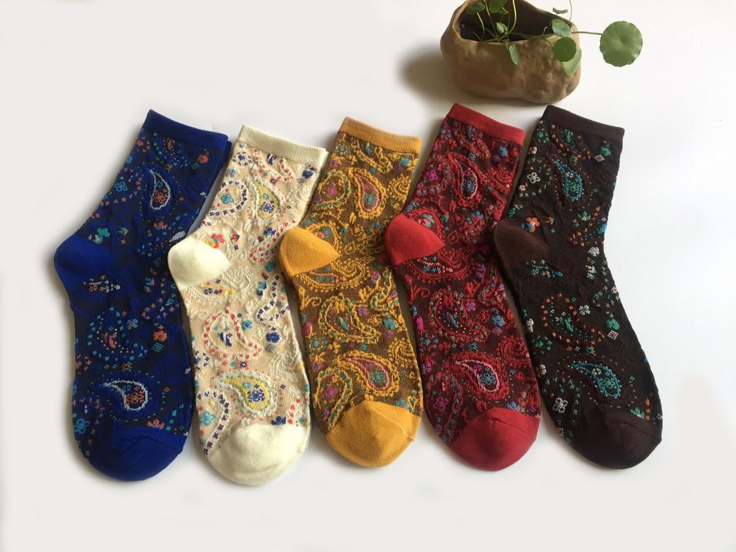 Ethnic Style Peacock Pattern Jacquard Weave Harajuku Women   Socks   Christmas   Socks   Snow Land Thickening Print Funny   Socks   PAISLEY