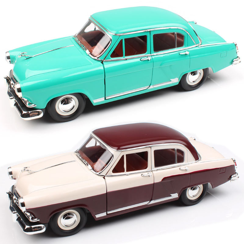 1:24 Scale road singnature Russia Soviet Classic Gorky GAZ M21 Volga 1957 cars vehicles saloon diecast model toys for childrens