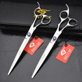 hair salon Jan 440C 8.0 inch high quality cutter hairdresser shear Teddy dog pet grooming scissor with case