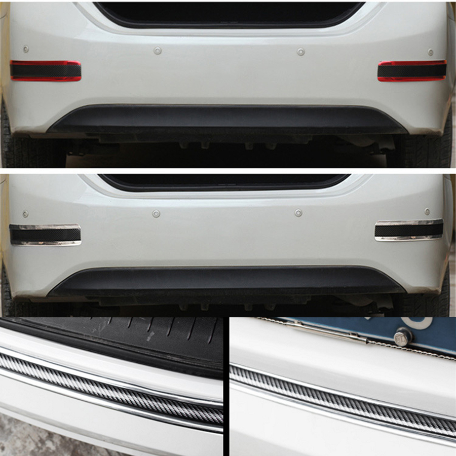 Image 5 - 2.5Mx3cm Car Door sill Scuff Pedal Carbon Fiber Stickers Fender Side Body Skirt Protect Front Rear bumper-in Mudguards from Automobiles & Motorcycles