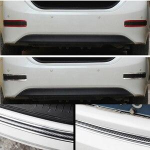 Image 5 - Umbral de puerta de coche de 2,5 M x 3cm, Pedal de desgaste, pegatinas de fibra de carbono, guardabarros lateral para carrocería, falda, protección, parachoques trasero delantero