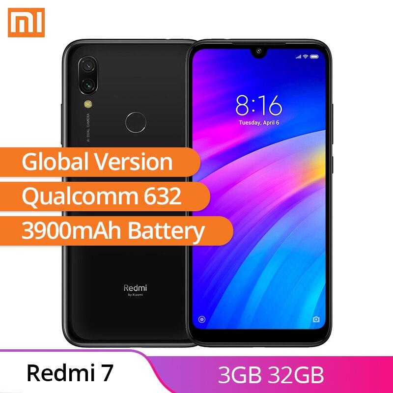 Versión Global Xiaomi Redmi 7 3GB 32GB Android 9,0 Qualcomm 632 Octa Core 12MP + 2MP trasera Cámara huella dactilar 3900mAh Smartphone-in Los teléfonos móviles from Teléfonos celulares y telecomunicaciones on AliExpress - 11.11_Double 11_Singles' Day 1