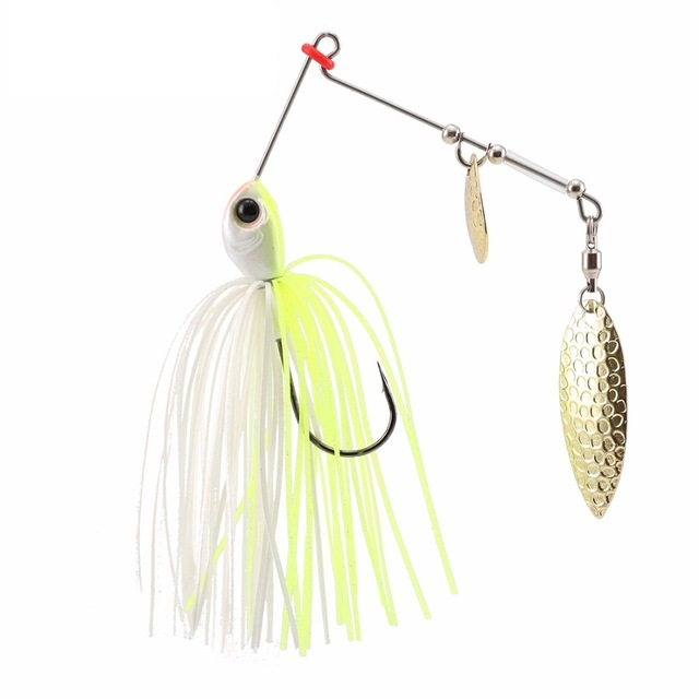P24 Spinnerbait 7g 1 PCS Buzz Bait Fishing Lure Fish Bait Metal Spoons Spinner lure with VMC Hooks Fishing lures