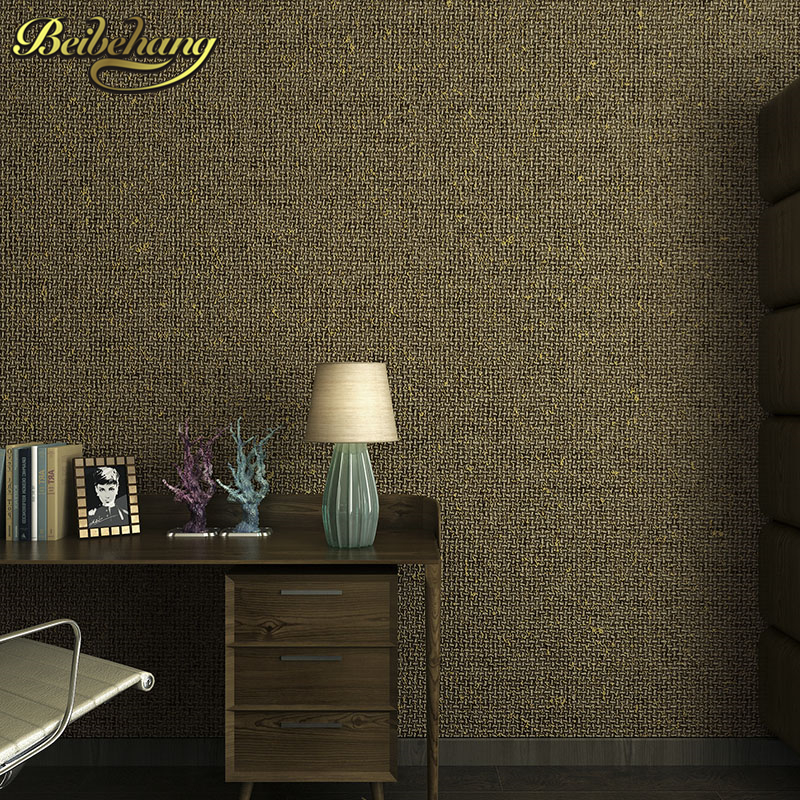 beibehang Non woven fabric solid color wall paper roll Home Decor Background flooring Wallcovering 3D Wallpaper