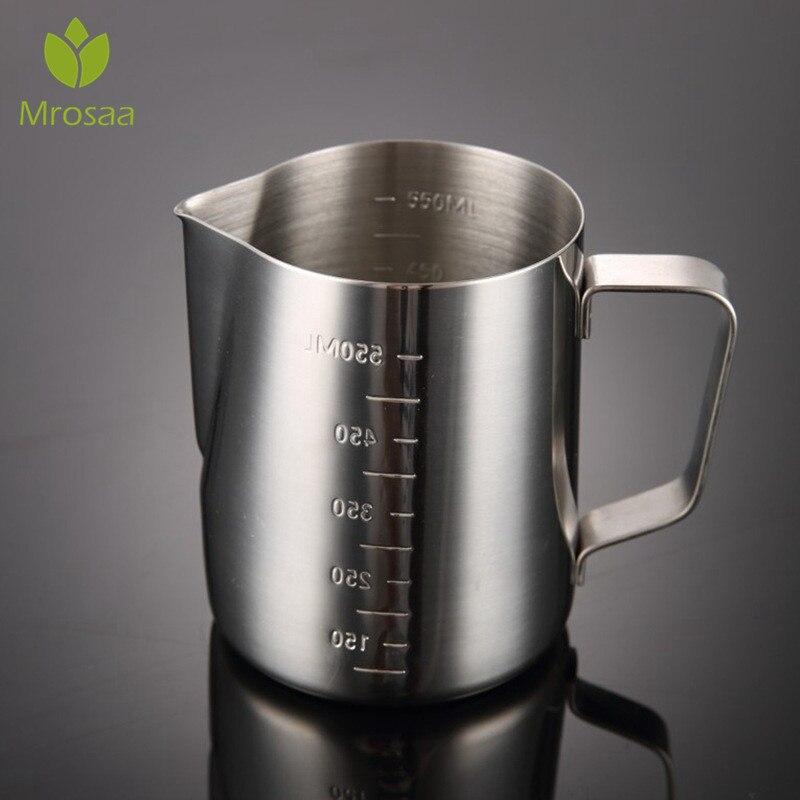 350 600 1000 ml leche de acero inoxidable frothing jarra Espresso Coffee Pitcher Barista Craft café Latte leche Frothing jarra