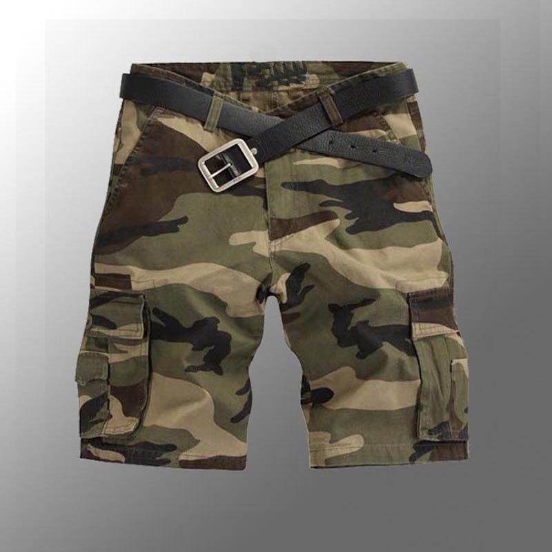 Men Cargo Shorts High Design Camouflage Military Shorts Homme Summer Outwear Hip Hop Casual Cargo Camo Men Shorts