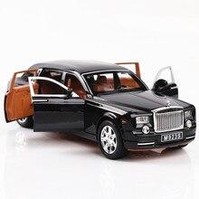 1:24 литая под давлением модель автомобиля из сплава Rolls Royce Phantom Металлический Игрушечный Автомобиль колеса симулятор звуковой светильник вытяжной автомобиль коллекция детский подарок