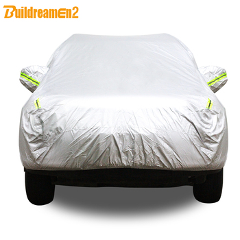 Buildreamen2 Auto Cover Waterdichte Auto Sedan Hatchback Anti-Uv Outdoor Regen Zon Sneeuw Krasbestendig Covers Zonnescherm