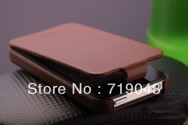 Luxury Retro PU leather case for iphone4 4s Flip New Arrival Original with FASHION Logo Thin Cover, free shipping
