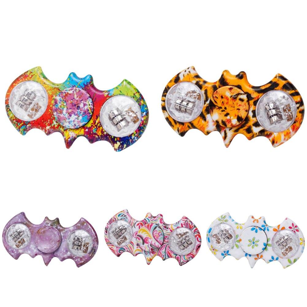 1PC Fingertip gyro LED Light Hand Spinner Fidget Spinner Toys Finger Ball For Autism ADHD Creative Gifts Rompecabezas