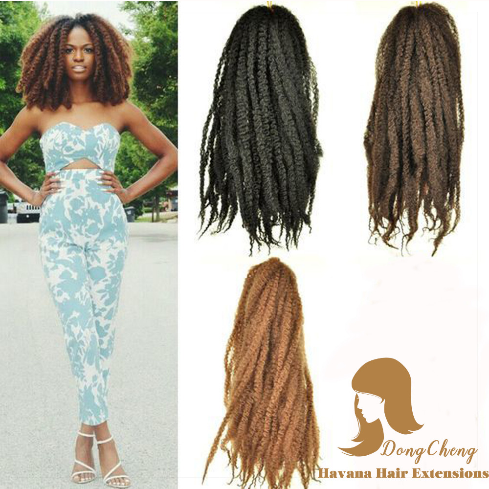 90 110g/pack Afro Kinky Marley Braid Hair Havana Mambo ...