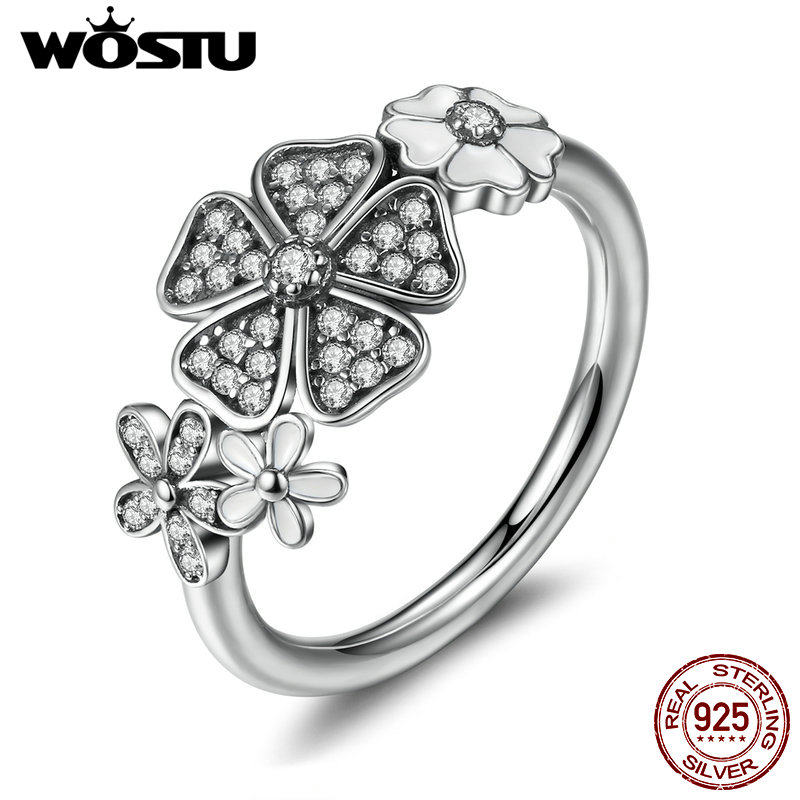 Hot Selling 100% Real 925 Sterling Silver Shimmering Bouquet Rings Compatible With Original Ring Jewelry Lover Gift XCH7176 ...