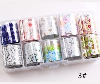 1set/lot 2.5*100cm Butterfly Spring Mix Flower Starry Sky Nail Foils set Transfer Sticker DIY Manicure Decoration Decals - 3
