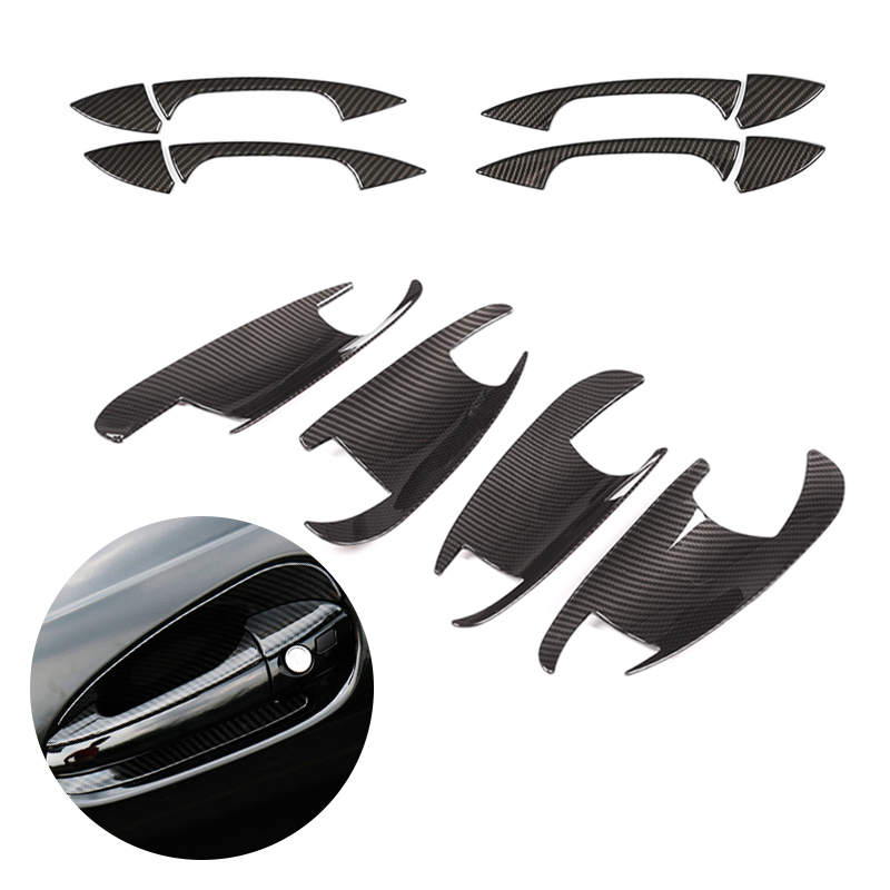 For <font><b>Mercedes</b></font> Benz C E GLK ML CLA Class W166 W117 X204 W204 W212 W246 Carbon Fiber Texture Car Exterior <font><b>Door</b></font> <font><b>Handle</b></font> / Bowl Cover image