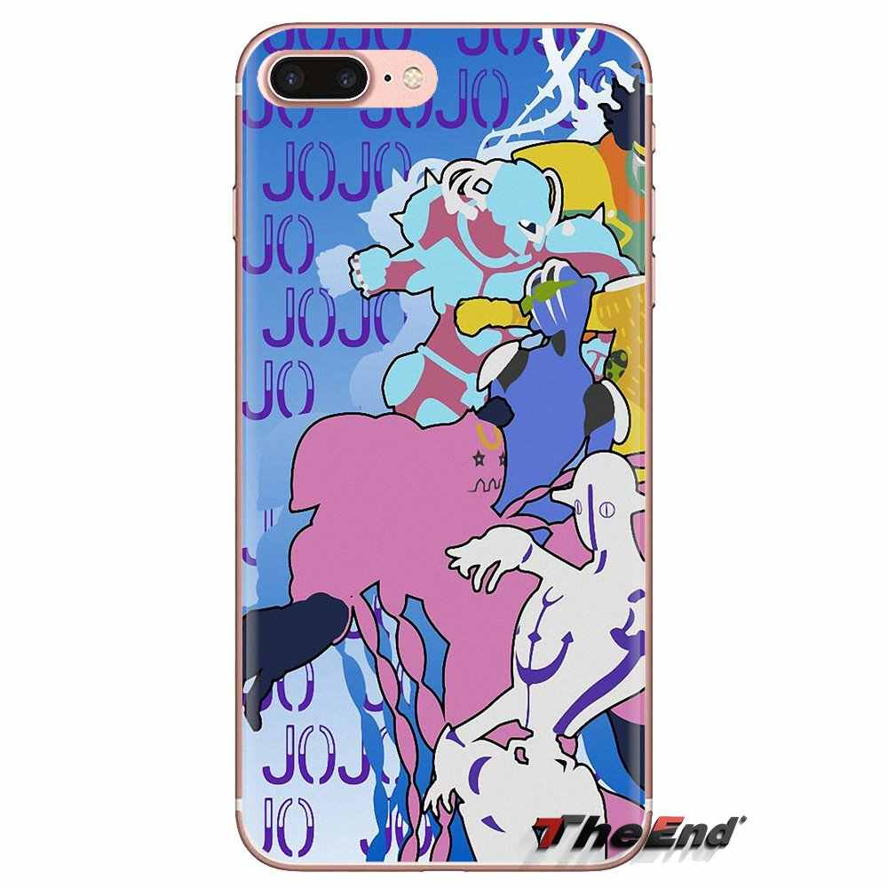 Extraña aventura JoJo Anime cubierta de la caja del teléfono celular para LG espíritu Motorola Moto X4 E4 E5 G5 G5S G6 Z Z2 Z3 G2 G3 C jugar Plus Mini