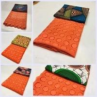 New African Lace African Ankara Lace Combination Ankara Fabric Art & Craft LSBM 9