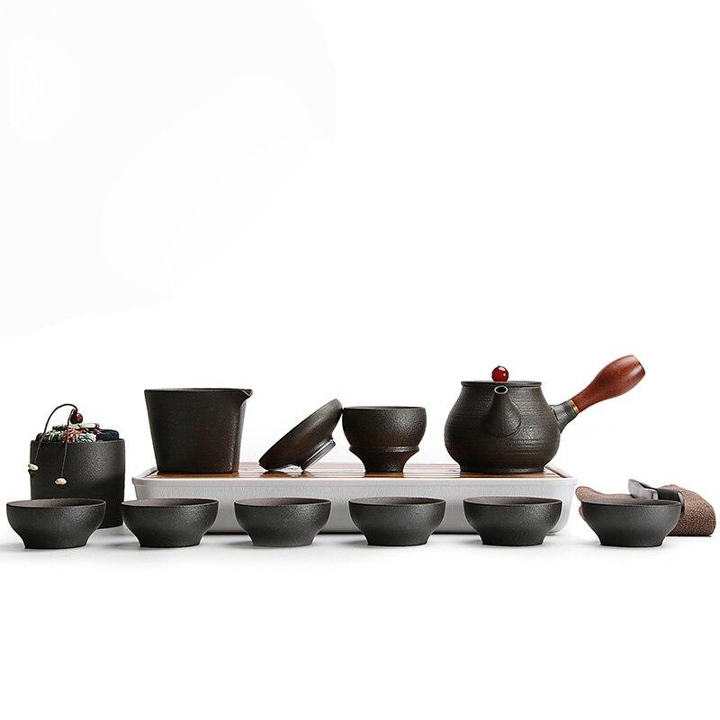 TANGPIN black crockery japanese ceramic teapot kettle tea cup for puer tea pot set japanese tea set porcelain 2