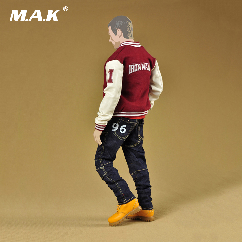 Здесь продается  1/6 Scale Male Clothing Suit Iron Man Fashion Baseball Jacket & Jeans Pants &T shirt& Leather Boo Models for 12