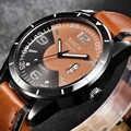 رائجة البيع الساعات الرخيصة الرجال XINEW موضة حلقة من جلد التقويم ساعة كورتز العارضة barato Erkek سات relojes relogio masculino