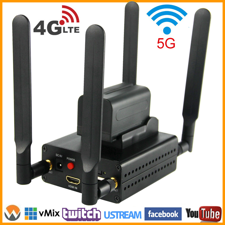 Encodeur vidéo en direct H 1080 RTMP URay 3G 4G LTE HD 264 P 1080I H264 HDMI pour serveur Facebook, Youtube, Wowza