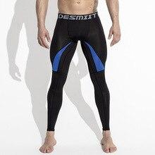 DESMIIT Running Tights Mens Leggings Compress Pants Fitness Men GYM Sport Legins Athletic Jogging Training Workout Sweatpants