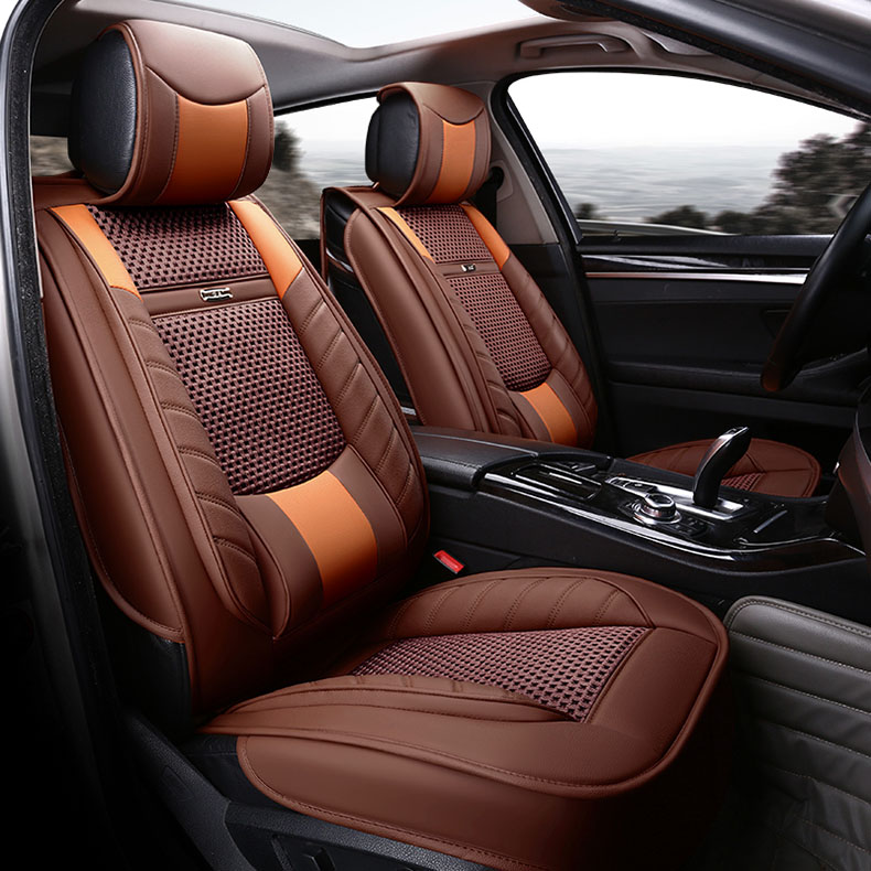 Car Seat Cover leather for auto volkswagen bmw e46 e60 e90 audi a3 a4 b8 ford focus peugeot 206 accesorios automovil car styling