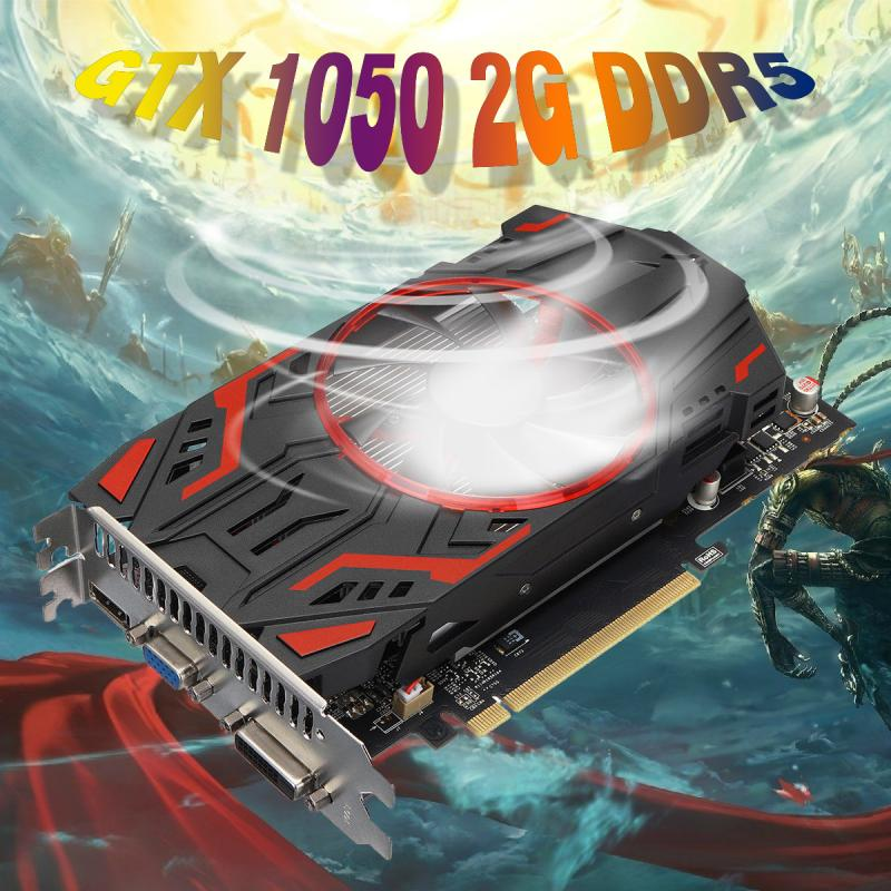 LEORY High-End Gaming Overseas Edition GTX1050 Graphics Card 2G DDR5 128bit Gaming Video Card Desktop mars version nvidia gtx650 video card for desktop gtx650 2g ddr5 gaming graphics card 384sp 3 years warranty