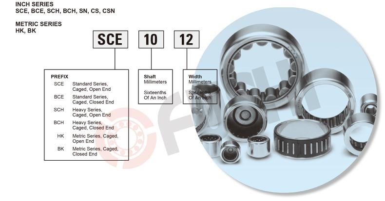 """SCE85 1//2/""""x 11//16/""""x 5//16/"""" inch BA85ZOH Needle Roller Bearings BA85Z 0.500/""""x0.688"""