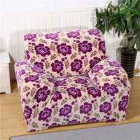 SunnyRain Flannel Floral Sofa Cover Elastic L Shaped Sofa Cover Slipcover For Sectional Sofa Three Seat