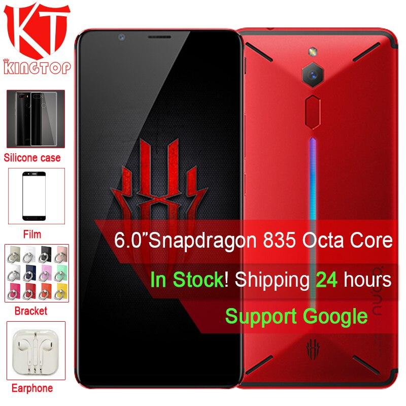D'origine ZTE Nubia Rouge Magique Jeu Mobile Téléphone 6 pouce Octa Core 6 gb 64 gb Plein Écran D'empreintes Digitales Android 8.1 4g LTE Smartphone