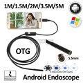 1M1. 5 м 2 М 3.5 М 5 М USB Змея Android USB Камеры Эндоскопа 5.5 мм USB Бороскоп гибкая USB Водонепроницаемый Инспекции Камеры Бороскоп