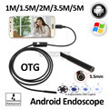1M1.5m 2M 3.5M 5M USB Snake Android USB Endoscope Camera 5.5mm USB Borescope Flexible USB Waterproof Inspection Borescope Camera