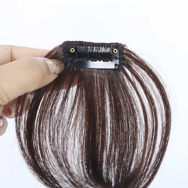 AOSIWIG короткие прямые челки синтетические шиньоны Волосы для женщин натуральные короткие поддельные челки термостойкие