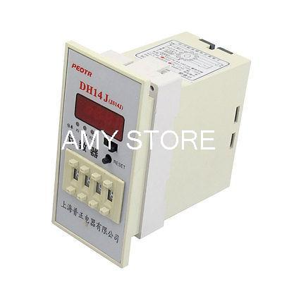 цена на DH14J 1-9999 (x1,x10,x100) 4 Digit Display Counter Relay 11 Pins 220V AC
