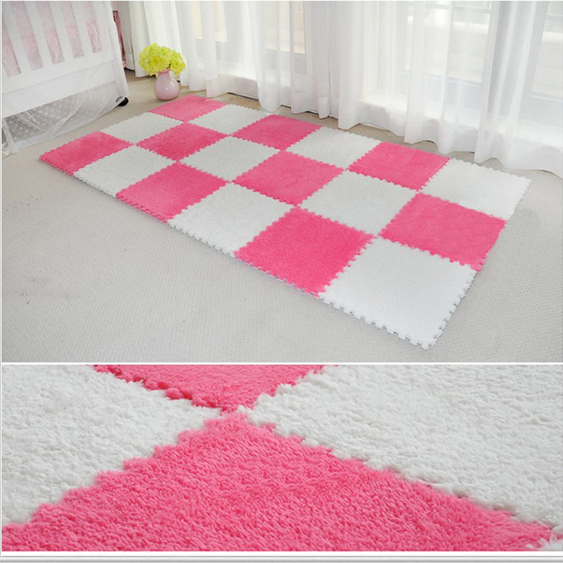 1Pcs 30x30cm Hot Sell DIY Stitching Carpets Bedroom Decorations Blanket for Home Party Wedding Floor Rugs Bedside Seat Carpets