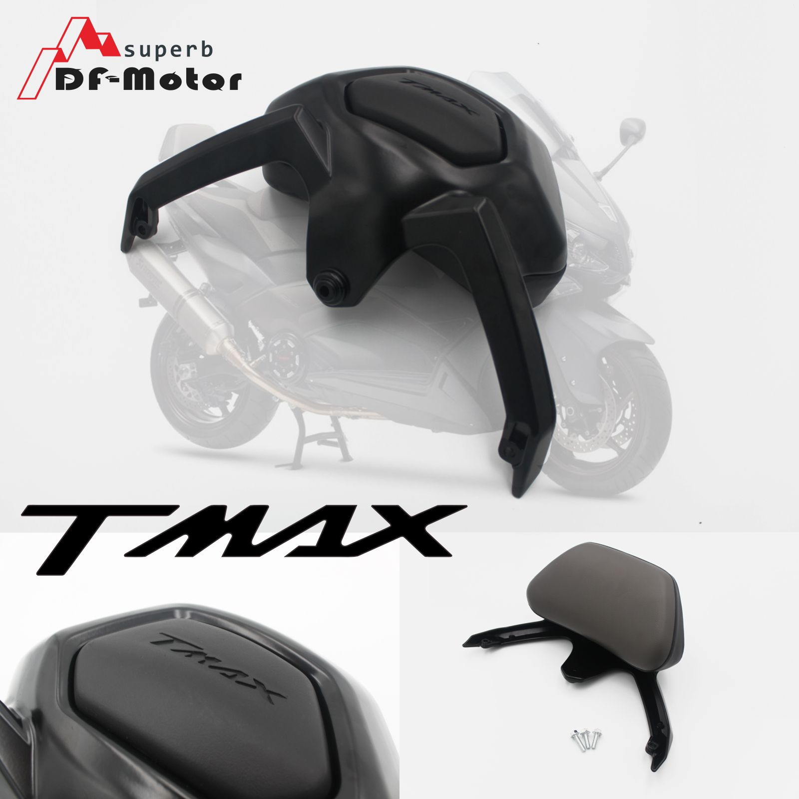 For YAMAHA T-MAX TMAX 530 TMAX530 2012 2013 2014 2015 2016 Motorcycle Accessories Backrest Passenger Backrest Stay Black Silver