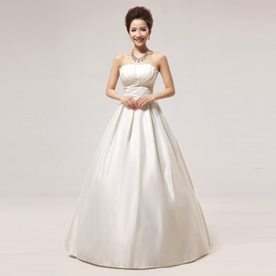 New 2015 Taffeta Material Strapless Silver Embroidery Appliques ...