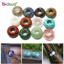 Perles à cheveux en pierre naturelle, pour tresses, accessoires de fabrication de bijoux, accessoires pour tresses, 12 à 24 pièces/sac