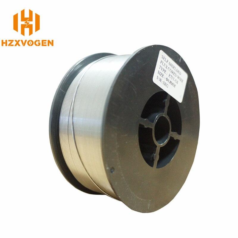 Fio de Aço Inoxidável Arame Mig Gás HZXVOGEN 1 E71T-GS Gasless Flux Núcleo Do Fio 0.8 milímetros 1.0 milímetros Rolo de Solda Mig acessórios