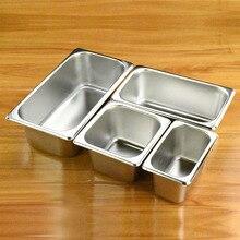 304 кастрюли из нержавеющей стали malatang, квадратные кастрюли для еды, прямоугольная пластина для фракции, бассейн