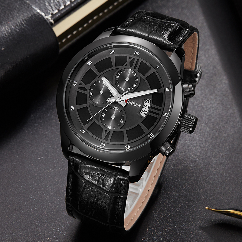 CURREN Top Brand Watches Men Relojes 2017 Luxury Business Wrist Watch Men Leather Quartz Sport Watch Mens Hours Clock Relogio genuine curren brand design leather military men cool fashion clock sport male gift wrist quartz business water resistant watch
