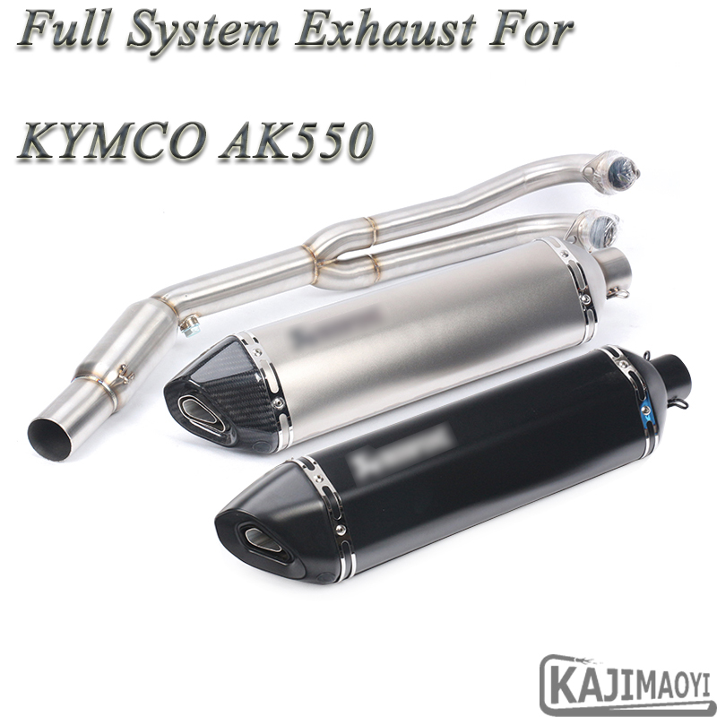 AK550 Motorcycle Full Exhaust System Modified Motorbike Front Connection Link Pipe Muffler DB Killer Slip-on For KYMCO AK550