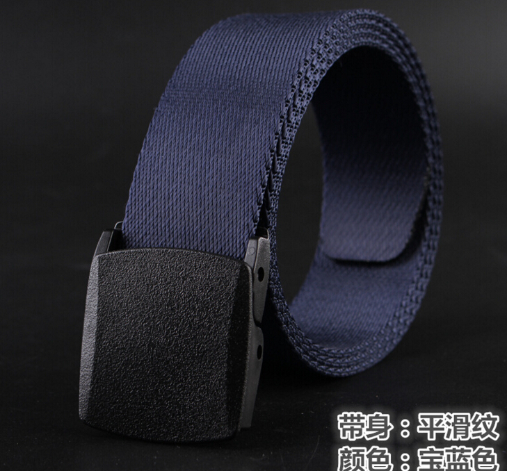 Canvas belt men outdoor leisure quick drying nylon belt imitation of anti allergic metal free plastic