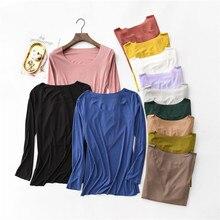 New T Shirt Women Cotton Ribbed Striped Tops Harajuku Tshirt 2019 Spring Long Sleeve Korean Plus Size T-shirt camiseta feminina недорго, оригинальная цена