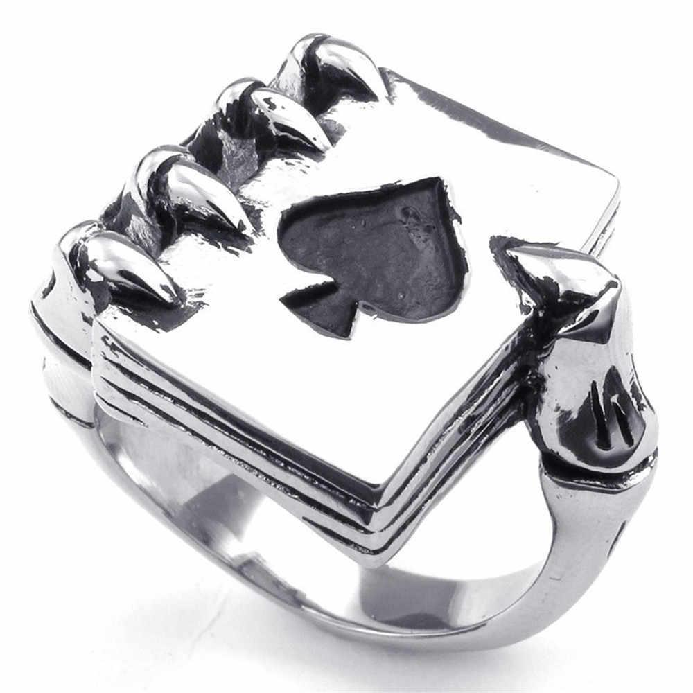 פוקר טבעות לגברים תכשיטי כסף שמנמן שחור אמייל טבעת גברים טבעות אירוסין לנשים חתונת הבטחת טבעות נקבה מתנות