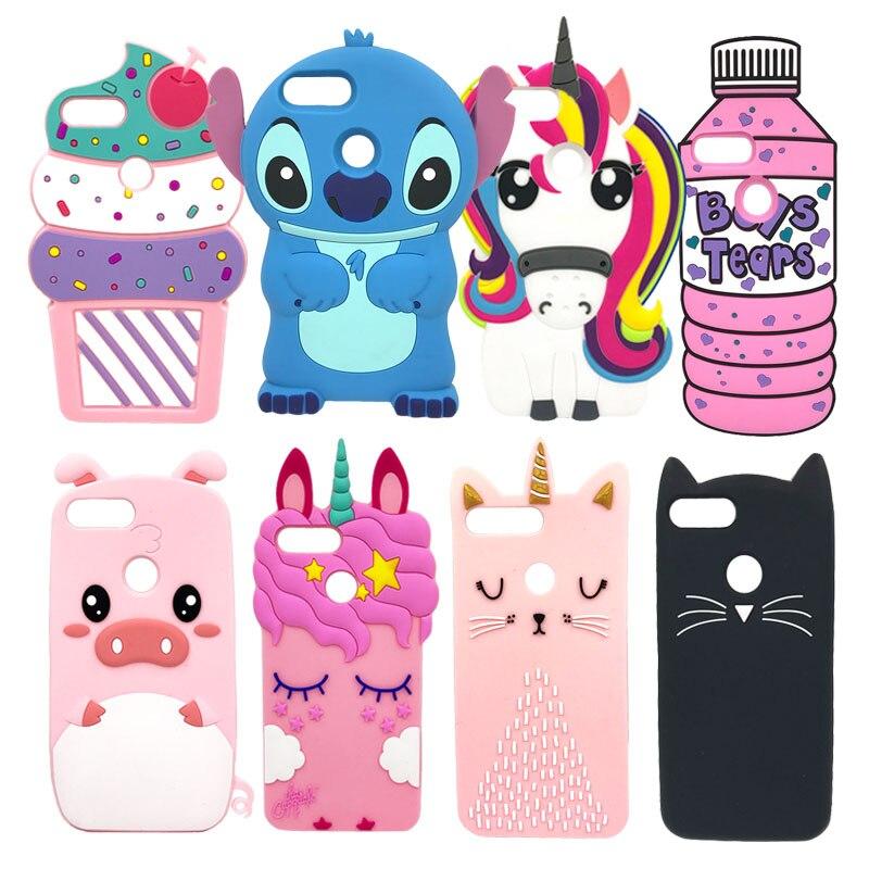Honor 9 Lite Phone Case For Huawei Honor 9Lite Cover Fundas 3D Cute Pink Horse Unicorn Stitch Cat Cartoon Soft Silicon Case Capa