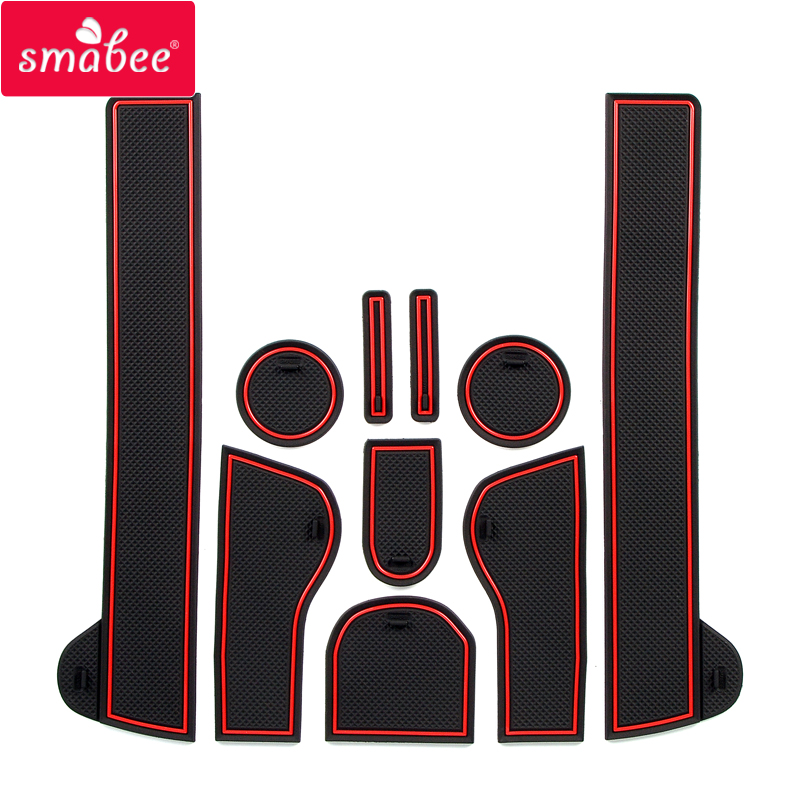 Smabee Anti-Slip Gate Slot Mats Rubber Cup Mat For Nissan Qashqai J10 2007 - 2013 Accessories Stickers 2008 2009 2010 2011 2012