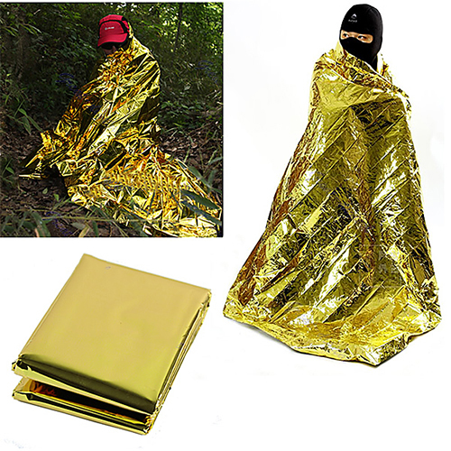New Myler Waterproof Emergency Survival Foil Thermal First Aid Rescue Blanket Tent Camping Mat new safurance outdoor emergency blanket tent sleeping bag survival rescue camping shelter hike emergency kits